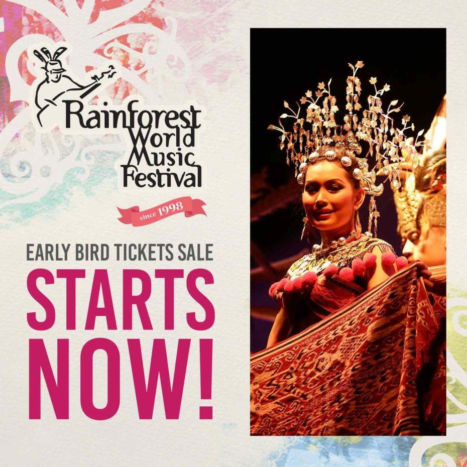 Rainforest World Music Festival Early Bird Ticket Rush
